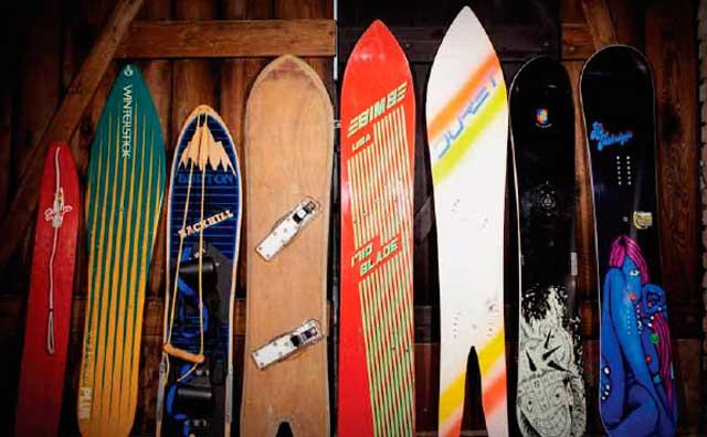 The beginnings of snowboarding