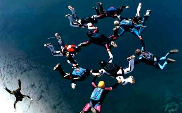 History of Skydiving or Parachuting