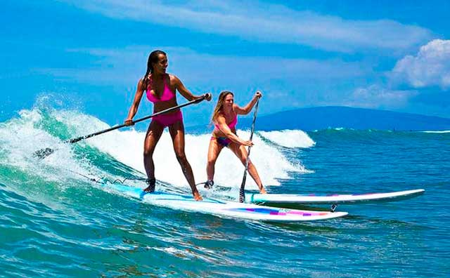 Learn to Surf with Stand Up Paddle